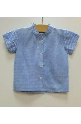 Camisa bb cuadro azul PATRICIA MENDILUCE