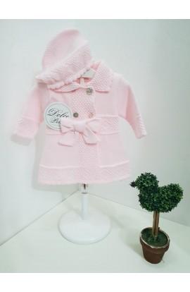 Abrigo + capota Lazada rosa