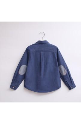 Camisa Azul coderas DADATI