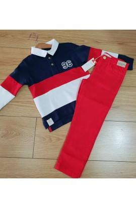 Pantalón Denim rojo zippy