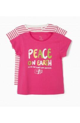 Camisetas zippy niña (pack 2) PEACE