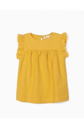 Camiseta Volante amarilla ZIPPY