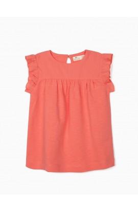 Camiseta Volante Coral ZIPPY