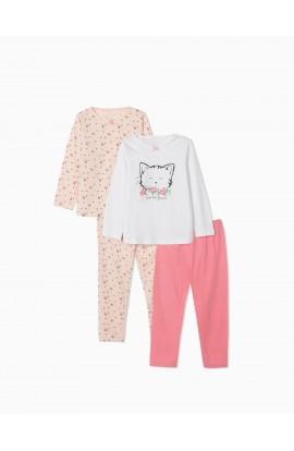 Pack 2 Pijamas Cute Cat Niña ZIPPY