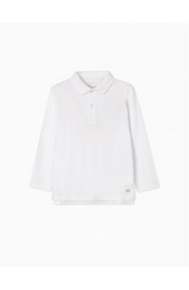 Polo básico algodón blanco ZIPPY