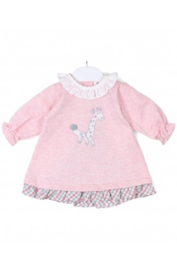 Vestido algodón Jirafa rosa POPYS